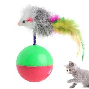 القط لعب 1 قطعة البلاستيك لعبة الحيوانات الأليفة اللوازم مضحك لعب كاذب ماوس الكرة ريشة النشاط C42