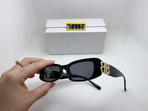 Occhiali da sole popolari forma quadrata retrò donna moda occhiali da sole lenti lenti classiche metallo b di stile popolare goggle di alta qualità UV 400