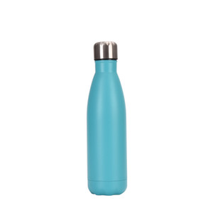 New hot Vacuum Bottle Water Can Coke Shape with straw lid Coke Cup Reusable Stainless Steel 500ml Coke Drinking cup