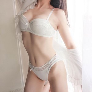 NEW Lingerie Set Sexy Intimates Bra Ladies Bra And Panty Set White Push Up Underwear Floral Embroidery Lace Women Bra Panty 6a5d0 HQ00#
