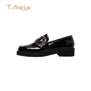 Tanariya New Arrival Shoes woman women Female cowhide single shoes for spring and autumn 2020