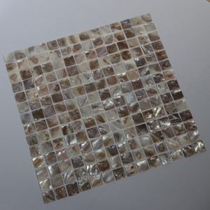 [FREE SHIPPING] 20x20mm natural color mother of pearl shell mosaic , for interior & furniture decoration used #MS050