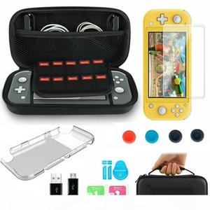 6 In 1 Accessories Set For Nintendo Switch Lite Carrying Case Bag+Shell Cover+Tempered Glass Protector Game Accessories T200812