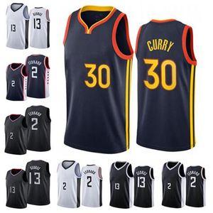 NCAA 2021 Nouveaux hommes Kawhi 2 Leonard Paul 13 George Basketball Jersey Stephen 30 Curry Jerseys State Jersey