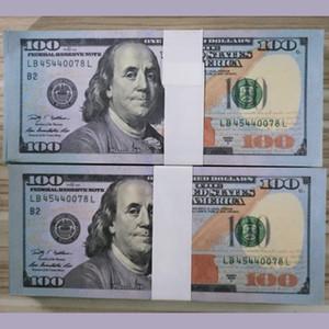 Доллар США Поддельные PROP Money Preteate Phower 20/50/100 Реквизиты Евро Доллары Фунты Биллс Биллов Бумажные деньги Money 100 шт. / Упаковка