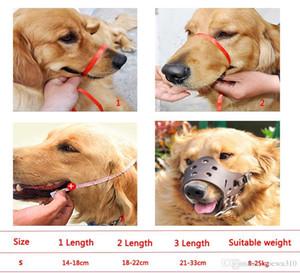 قابل للتعديل الحيوانات الأليفة واقية الفم غطاء الكلب المضادة للإضاءة قناع مكافحة النباح بو تنفس لينة الفم كمامة الاستمالة مضغ مضغ 5 الحجم DBC DH0979-5