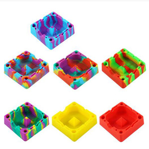 Diamond Colorful Ashtrays Silicone Square Household Ash 120*120*36mm Holders Colorful Beautiful New Arrival Ash Tray VT1973
