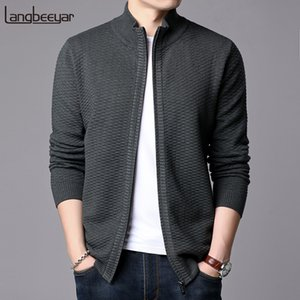 New Fashion Jackets Mens Stand Collar Cardigan Trend Streetwear Overcoat Winter Slim Fit Windbreaker Casual Coat Men Clothing 201022