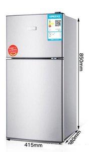 BCD-118 small refrigerator home double door small refrigerator freezer rental electric energy saving dormitory Door structure double door