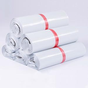 50pcs / lot Bianco Corriere Bank Express Busta Busta Busta Mailing Sacchetti autoadesivi Seal PE Plastica Borsa Packaging 24 Taglie Q1230