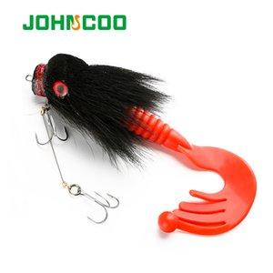JOHNCOO 85g 22см Deer волос Материал Big Mouse Soft Grub Мелких Крючки Тонущих Искусственная рыболовная приманка Щука Bass Fishing 201019
