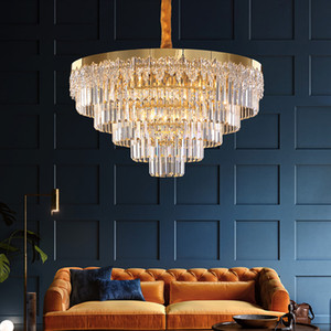 New  crystal chandelier lighting for living room bedroom dining room contemporary  golden hanging lamps led pendant lights