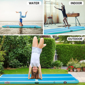 US Stock 10ft Air Track 4 inches Inflatable Gymnastics Mat Air Track Floor Tumbling Mat Tumble Track with Electric Pump Outdoor W35413482
