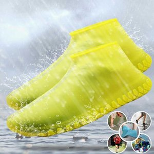 Unisex Silikon wasserdichte Schuhabdeckung Outdoor Rain Proof Wanderer Rutschfestes Schuhabdeckungen Schuhe Protektoren Wiederverwendbare Regenstiefel Aw51