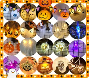 Children's pumpkin plastic bucket is a must for the festival, and it is sold directly decoration spider string lightsby the factory