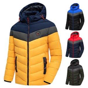 Outwear TFU 2020 Inverno nuovissimo casuale spesso caldo cappotto impermeabile antivento Autunno Cappello Parka Jacket Men