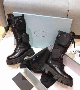 Combate las mujeres diseñadores Rois botines de nylon de arranque y Martin botas de invierno diseñadores Martin bouch nylon tobillo esguince en el cuadro adjunto