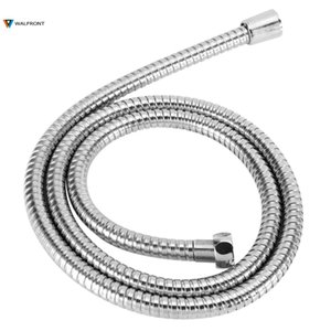 1 .5m Stainless Steel Shower Hose Flexible Bathroom Water Pipe Silver Color Common Pumbing Hoses Bathroom Accessories Wholesale