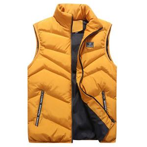Vest Uomini addensare Gilet 4XL Abbigliamento Uomo giacca senza maniche Vest Winter Fashion Casual cappotti Maschio Cotton-Padded degli uomini