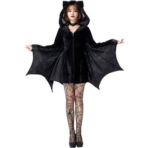 Vampire Bat Costume Cosplay Adult Halloween Costume For Women Carnival Party Clothing