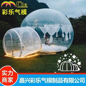 Bubble Stargaze Outdoor Camping Tent with Single Tunnel Inflatable Tent Family Camping Backyard Transparent1