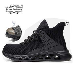 Yeni sergi moda iş güvenliği ayakkabı erkek çelik ayak kapağı koruyucu tahribatsız iş botları artı boyutu güvenlik spor ayakkabı 201223