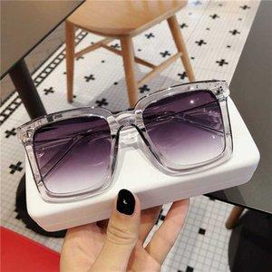 Рама лица Большая новая мода личности квадратные солнцезащитные очки Chaoren Street Hip Hop очки