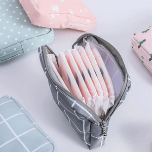 Fashion Women's Small Cosmetic Bag Travel Mini Sanitary Napkin Storage Bag Coin Money Card Lipstick Storage Wallet
