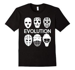 Gardien de but glace de la mode T-shirt Évolution court cadeau joueur de hockey 2019 Shirts Creative T-shirt T-shirt Homme Masque Personnaliser Tee imprimé Gardien de but Fa Qgwg