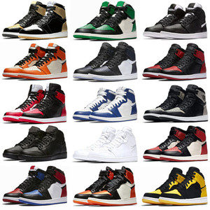 NUEVO 1 I High OG BRED TOE CHICAGO BANNED juego Royal Basketball Shoes Men 1S Top 3 Shattered Tablero Shadow SHAMS MULTICOLOR 36-47