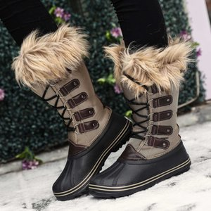 Women Boots Winter Fashion Outdoor Snow Boots Women Booties Comfort Shoes Woman Knee High Warm Faux Suede Slim