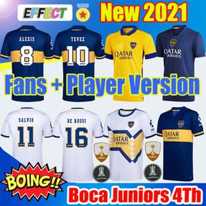 Boca Juniors 20/21 Soccer Jerseys 2020 2021 Fans Player Version TEVEZ Third 4th Camisetas de fútbol para niños Retro Diego Maradona 1981 Camiseta de Futbol Jerseys