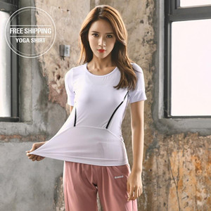 Yoga Sport Long Sleeve Shirts Women Slim O-neck Fitness Gym Crop Tops T-shirt Quick Dry Seamless Athletic Tee