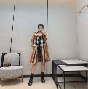 2020 Milan Runway Trench Coats Lapel Neck Long Sleeve Brand Same Style Trench Coats Women Designer Coats 0816-6