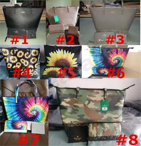 KS PU Marca borsa portafogli 3pcs borsa / donne stabilite Tie Dye Plaid paillettes glitter sacchetti di spalla di lusso femminile Tote mini raccoglitore della borsa della moneta F102203