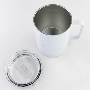 바다 빈 승화 물 텀블러 10oz DIY 열 전송 커피 머그잔 이중 벽 승화 워터 컵 스테인레스 스틸 여행 머그잔