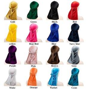 Modis Men Velvet Durag Bandana Turban Wrap Hat Women Headwear Headband Mujer Hip-hop Pirate Hat Hair Accessories