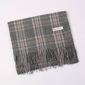 Hot Sale-Imitation Cashmere Scarves for Women Fashion Large Scarf Plaid Lightweight Winter Shawls and Wraps 4 Colors