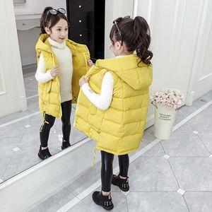 Otoño invierno niñas casual chaleco chaqueta niños ropa exterior abrigos para niñas niño niño abajo algodón chaleco sin mangas niños chaqueta caliente LJ201125