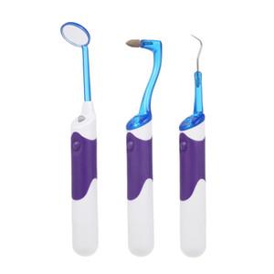 3 шт. Оральный гигиенический комплект Светодиодные зубные зеркало Зубное Зубное пятно Ластик Плакатское средство для удаления зубной очистки Инструмент отбеливания