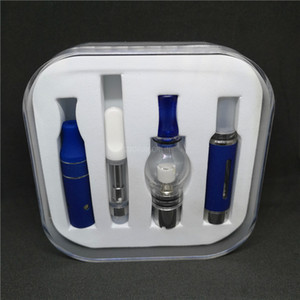 Deluxe Ecig 4 in 1 Vaporizer Starter Kit with Crystal Gift box Ago G5 Wax atomizer Dry Herb Vaporizer with 1100mah EVOD Vape Pen Battery DHL