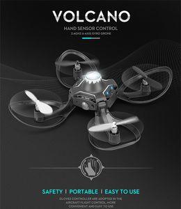 Faltende DRONE GESTURE CONTROL Aerial Fotografie Quadcopter Somatosensorischer Schwerkraftsensor mit Licht Fernbedienung Flugzeug Kinderspielzeug
