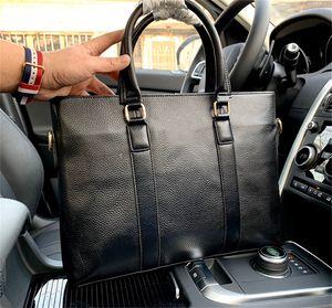 Designer Luxury Briefcases Men Simple and Versatile Men's Briefcase Fashion -shelala