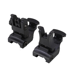 Folding Tactical Flip up Sight Rear Front Sight Mount Set for Picatinny Rails Weaver Nylon Made