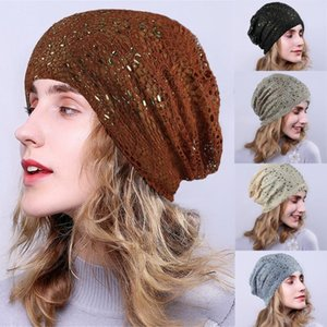 New Unisex Beanie Hat Ribbed Knitted Cuffed Winter Hat Soild India Lace Stretch Turban Knitting Hair Loss Head Scarf Wrap