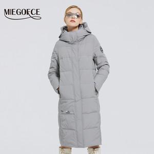 MIEGOFCE Yeni Kadın Uzun Pamuk Palto ile miegofce Tasarım Kış Su geçirmez Parkas Windproof Giyim Kadın Ceket 201009