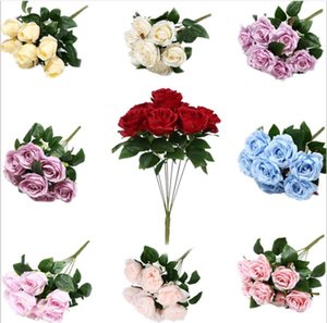 1 Bouquet 7 heads Artificial Rose Flowers Peony Camellia Silk Fake Flower flores for DIY Home Garden Fake Flowers Faux Wedding Decoration