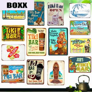 Tike Bar Shabby Chic Metal Tin Signs Tropical Bar Vintage Plaque Cafe Pub Club Home Wall Decor Plates Art Printing Stickers WY30