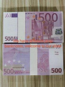Pour Jouer la plupart des boîtes de nuit Copier Money 500 Papier de cinéma Money Bank Bank Business Note Remarque Euros Fake Realistic Collection 34 NJBum