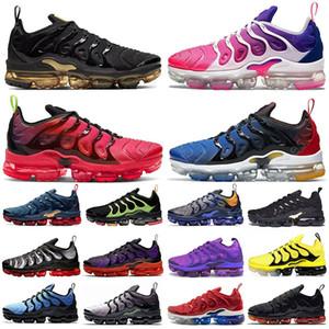 Nike Air Vapormax TN Plus Koşu Ayakkabıları Erkekler kadınlar Için ÜZÜM Parlak Crimson Hyper Volt Kurt Gri Erkek Eğitmenler Sneaker